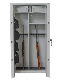 Szafa na broń Gun Guard 15 optic /w z Przegrodą - 10 jednostek+ZAMEK ELEKTRONICZY+MATA